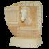 Trophée Pierre du Gard 1804 Cheval - Box 28 cm