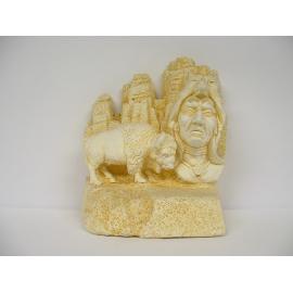 Trophée Pierre du Gard 1679 Indien-Bison 19 cm