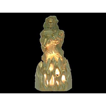 Lampe d'Ambiance Pompier 30 cm Bronze doré