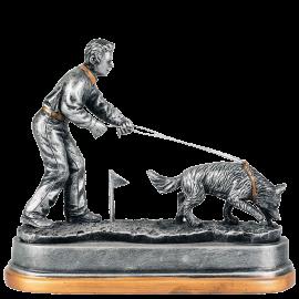 Trophée résine Concours Canin Pistage 18 cm PCM1156