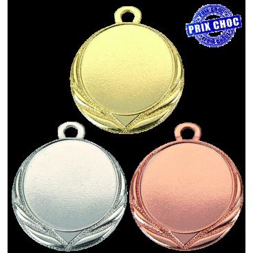 Médaille sportive pas chère Ø32 centre Ø25