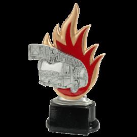 Trophée résine Pompier / Camion échelle FG1644 (3 tailles)