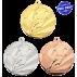 Lot de 100 médailles MM1058  Ø50 Football + 100 RUBANS OFFERTS !