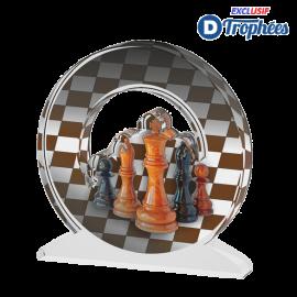Trophée Acryglass ACTW0200M19 Echecs (3 tailles)