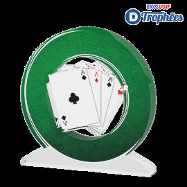 Trophée Acryglass ACTW0200M12 Cartes à jouer(3 tailles)
