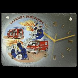 Horloge en ardoise Pompiers 2780 Secours aux bléssés