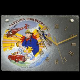 Horloge en ardoise Pompiers 2780 Sauver ou Périr
