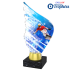 Trophée Acryglass AKEA0001M22 Snowboard