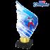 Trophée Acryglass AKEA0001M20 Ski de Fond