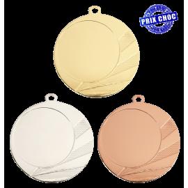 Lot de 50 médailles MM1705 Ø70 centre Ø50