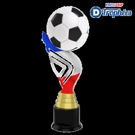 Trophée Acryglass ACTA0001M73 Football Bleu/Blanc/Rouge