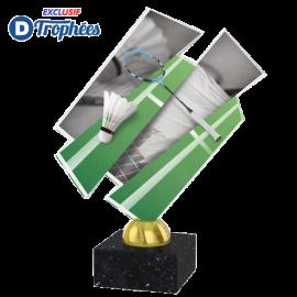 Trophée Acryglass ACZM06 Badminton