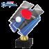 Trophée Acryglass ACZM07 Ping-Pong