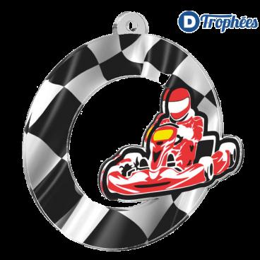 Lot de 50 médailles MDA0010 Karting