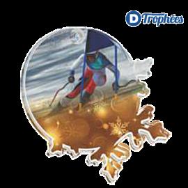 Lot de 25 médailles MDA0008 Ski alpin