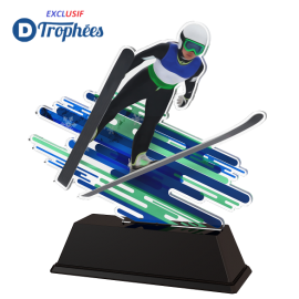 Trophée Acryglass FAZM5 Saut à Ski