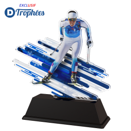 Trophée Acryglass FAZM4 Ski de Fond