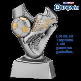 Lot de 50 Trophées Sportifs Football Chaussure/Ballon
