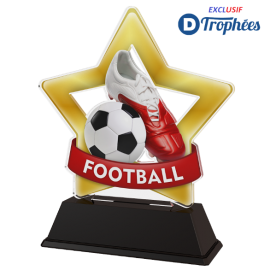 Trophée Acryglass STARS Football