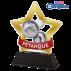 Trophée Acryglass STARS Pétanque