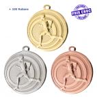 Lot de 100 médailles sportives Cross Ø32 + 100 RUBANS !