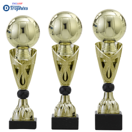 Trophée sportif Luxe A326 Volley-Ball (3 tailles - Discipline en 3D)