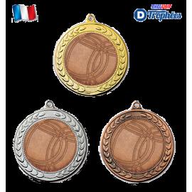 Lot de 50 Médailles sportives Ø70 centres Pétanque Ø50