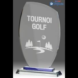 Trophée Sportif en Verre B344 (3 tailles)