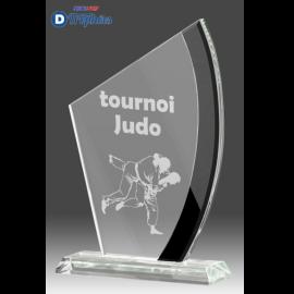 Trophée Sportif en Verre B340 (3 tailles)