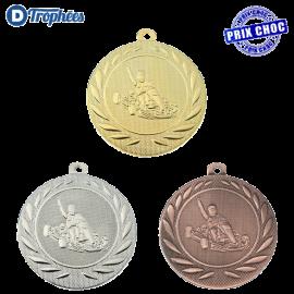Lot de 100 médailles sportives Karting Ø50