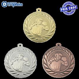Lot de 100 médailles sportives Boxe Ø50