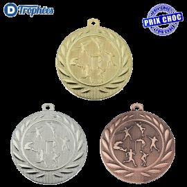 Lot de 100 médailles sportives Athlétisme Ø50