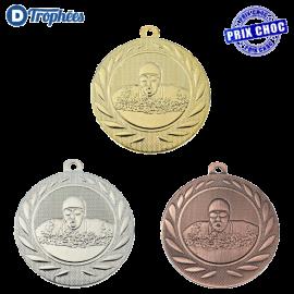 Lot de 100 médailles sportives Natation Ø50