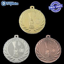 Lot de 100 médailles sportives Course à pied Ø50