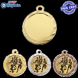 Lot de 100 médailles sportives Ø32 centres Ø25