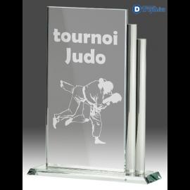 Trophée Sportif en Verre GLA1220 (3 tailles)