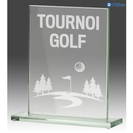 Trophée Sportif en Verre GLA860 (3 tailles)