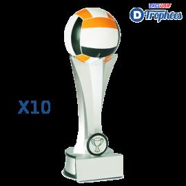Trophées Sportifs en Résine Volley-Ball 2441 (lot de 10)