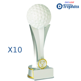 Trophées Sportifs en Résine Golf 2440 (lot de 10)