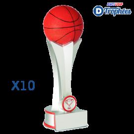 Trophées Sportifs en Résine Basket-Ball 2438 (lot de 10)