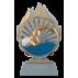 Trophée Q120 13,5 cm - (Centre résine Ø70)