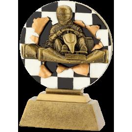 Trophée résine Karting FG1075 Or  13,5 cm