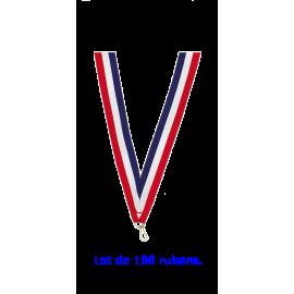Rubans LI5 Bleu/Blanc/Rouge   80 cm x1 cm (x100)