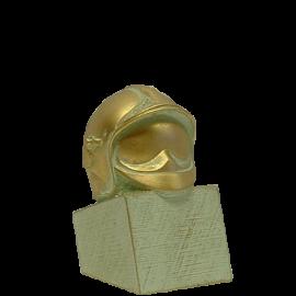 Trophée Pierre du Gard 1413BR Casque Pompier F1 Bronze doré 13 cm