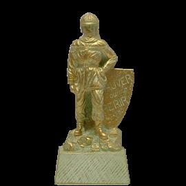 Trophée Pierre du Gard 1464BR Pompier personnage Bronze doré 22 cm