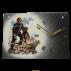 Horloge en ardoise Pompiers 2770 Equipe cynophyle