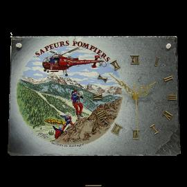 Horloge en ardoise Pompiers 2780 Secours en montagne
